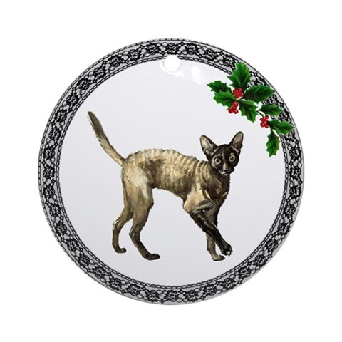 Cornish Rex Cat Ornament Round Cat Round Ornament by CafePress