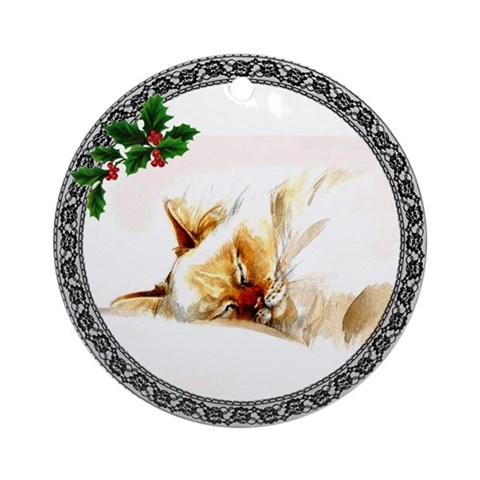 Birman Cat Ornament Round Cat Round Ornament by CafePress