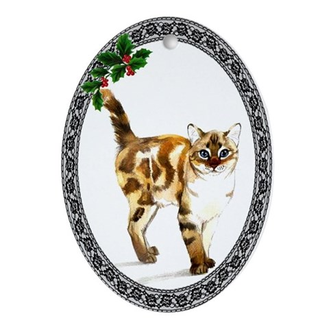 Bengal Cat Cat Oval Ornament by CafePress
