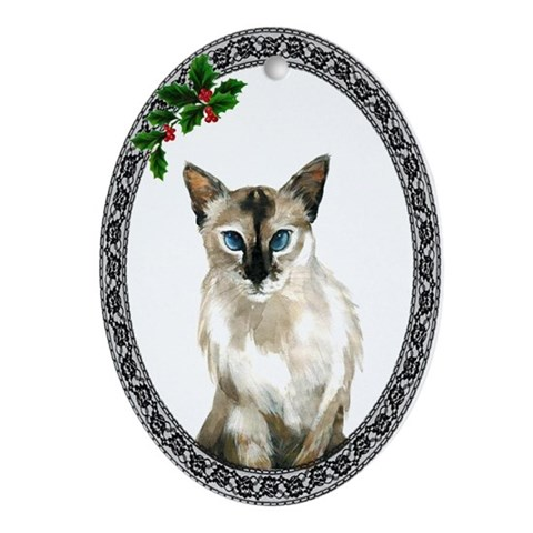 Balinese Cat Cat Oval Ornament by CafePress