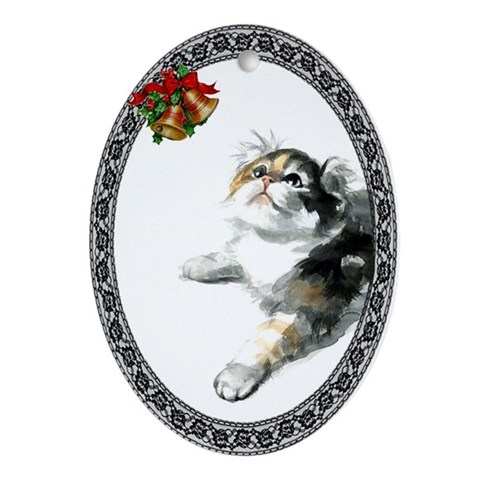 American Curl Cat Cat Oval Ornament by CafePress