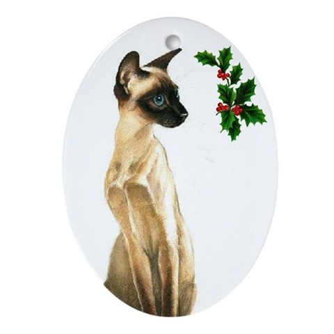 Siamese Beauty Cat Cat Oval Ornament by CafePress