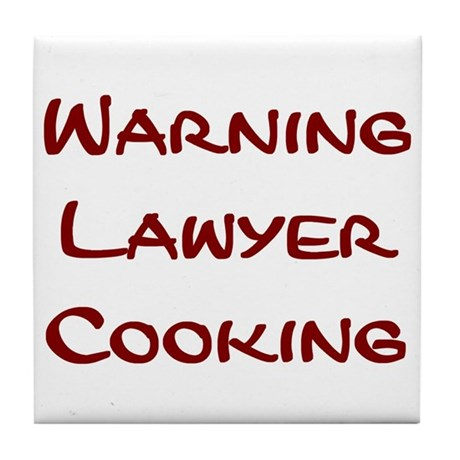 Lawyer Cooking Tile Coaster