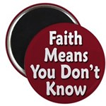 Faith: You Don't Know Magnet (10 pack)