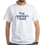 America's Choicce White T-Shirt