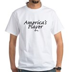 America's Player White T-Shirt