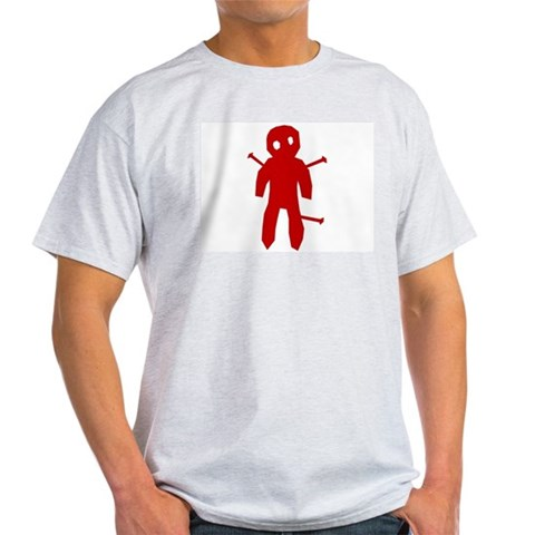 Voodoo Doll Grey T-Shirt Voodoo Light T-Shirt by CafePress