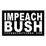 Impeach Bush (black bumper sticker)