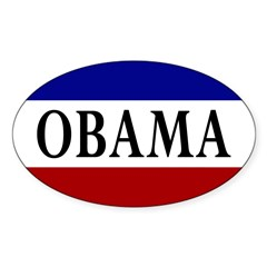 Obama Oval Campaign Bumper Sticker