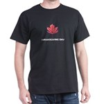 Happy Thanksgiving Day Maple Leaf Light T-Shirt