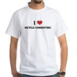 I Love Bicycle Commuting White T-shirt