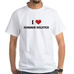 I Love SUMMER SOLSTICE White T-shirt
