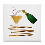 Champagne Bubbles Tile Coaster