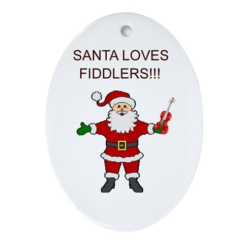 Santa Violin Fiddler Christmas Music Ornament $ 12.50