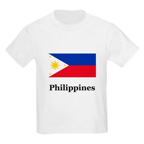 Philippines  Flag Kids Light T-Shirt by CafePress