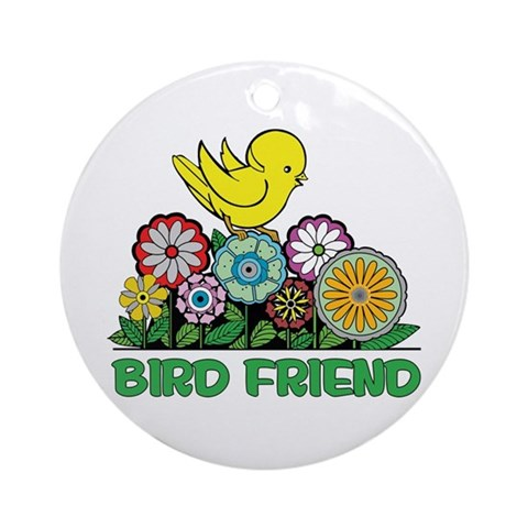 Bird Friend Ornament Round Cupsreviewcomplete Round Ornament by CafePress