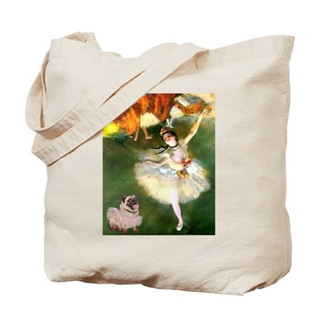 Degas Dancer & Pug in Tutu Tote Bag