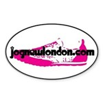 Pink Sneaker Oval Sticker