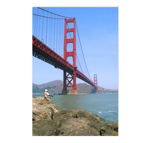 - Golden Gate Bridge Photography Postcards Package of 8 by CafePress
