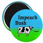 Impeach Bush Moo Cow Magnet