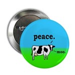 Peace Cow Moo Button