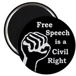 Free Speech is a Right Magnet