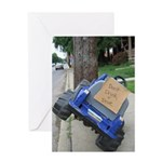 Drunk Driving Toy Car Greeting Card
