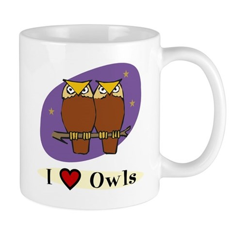 Owl: I heart Owls Owl Mug by CafePress
