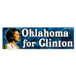 Oklahoma for Clinton Bumper Sticker