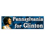 Pennsylvania for Clinton bumper sticker