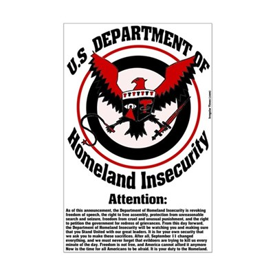 Homeland Insecurity Poster (11 by 17)
