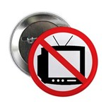 "No TV 2.25"" Button (10 pack)"