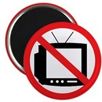 "No TV 2.25"" Magnet (10 pack)"