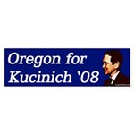 Oregon for Kucinich 2008 bumper sticker