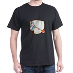 Glassblower Glassblowing Cartoon Shield T-Shirt