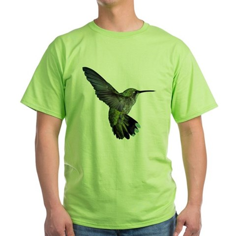 Hummingbird -  Nature Green T-Shirt by CafePress