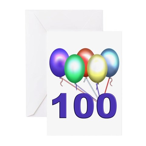 100th Birthday Party Invitations Pk of 20 Birthdays Greeting Cards Pk of 20 by CafePress