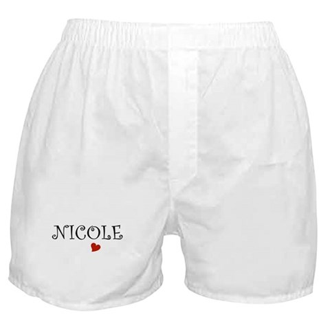 - Nicole Names Boxer Shorts by CafePress