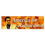 America for Bill Richardson bumper sticker