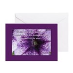 Psalm 136:4 Greeting Card