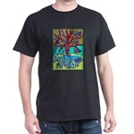 Red Tree Of Life Falling Hearts Growth Of T-Shirt