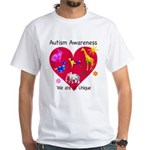 Autism Awareness Animals White T-Shirt