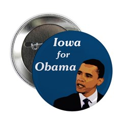 Ten Iowa for Obama campaign buttons