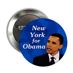 New York for Obama Button