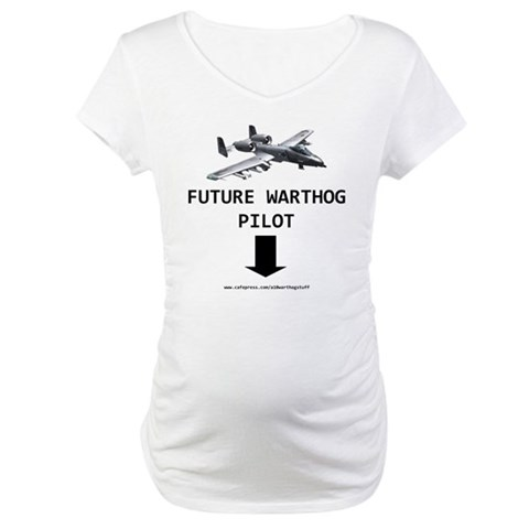 A10 Warthog  Military Maternity T-Shirt by CafePress