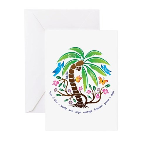 /Tree of Life/Tropical Art Greeting Cards Pk of 20 by CafePress