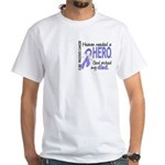 Prostate Cancer HeavenNeededHero1 White T-Shirt