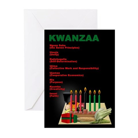 KWANZAA Kwanzaa Greeting Cards Pk of 10 by CafePress
