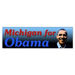 Michigan for Obama bumper sticker