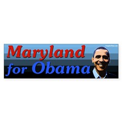 Maryland for Obama bumper sticker